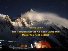 K2 Base Camp Temperature