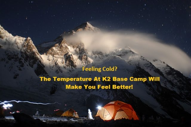 K2 Base Camp Temperature