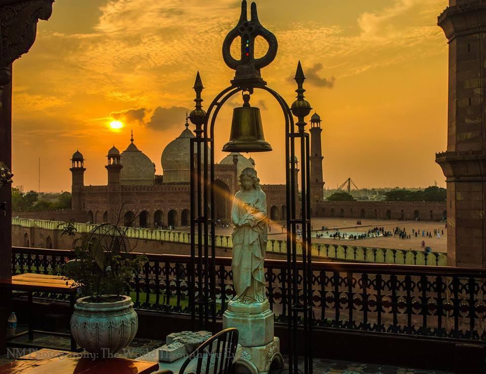 View of Badshahi Mosque Lahore From a Famous Restaurant Cuckoo's Den