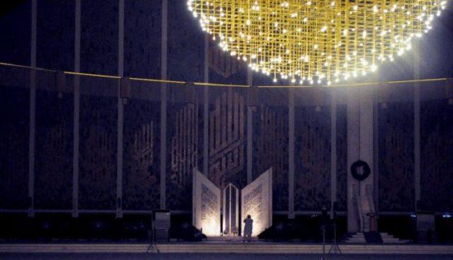 prayer hall of Faisal Mosque