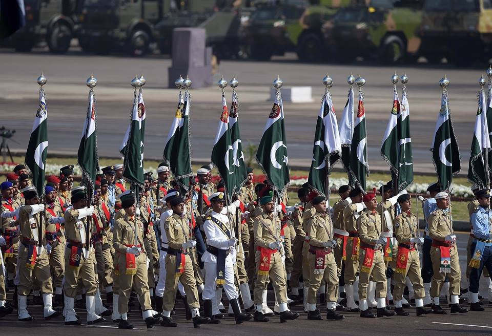11 - Soldiers of Pakistan Army March past During Parade