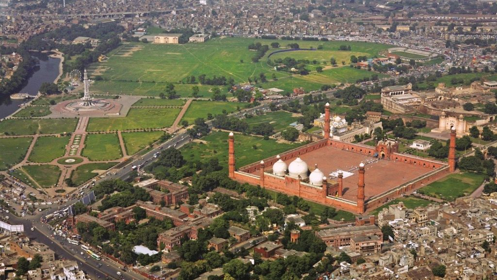 Aerial View of Badshahi Mosque