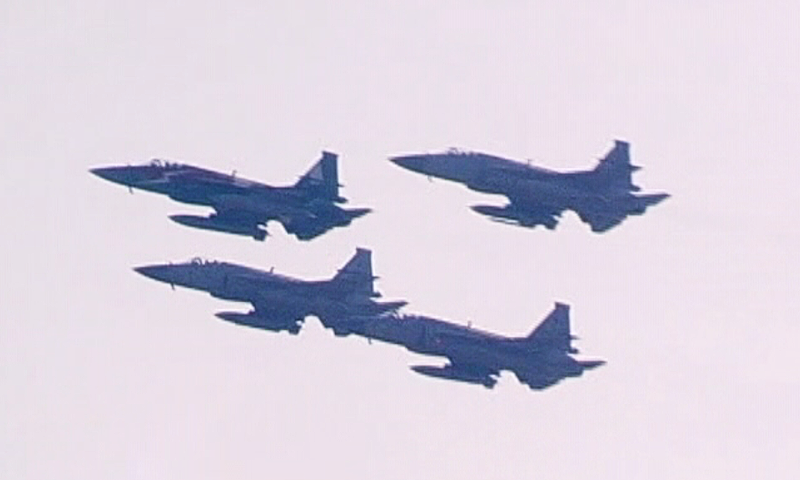 46 - Military Jets performed at the parade