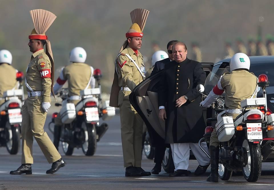 5 - Nawaz Sharif Arrives at Pakistan Day Parade