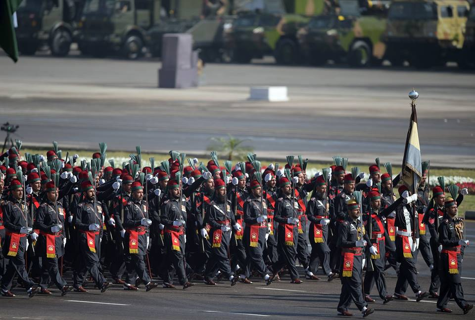 6 - Pakistan Paramilitary Soldiers March Past During Pakistan Day Military Parade in Islamabad