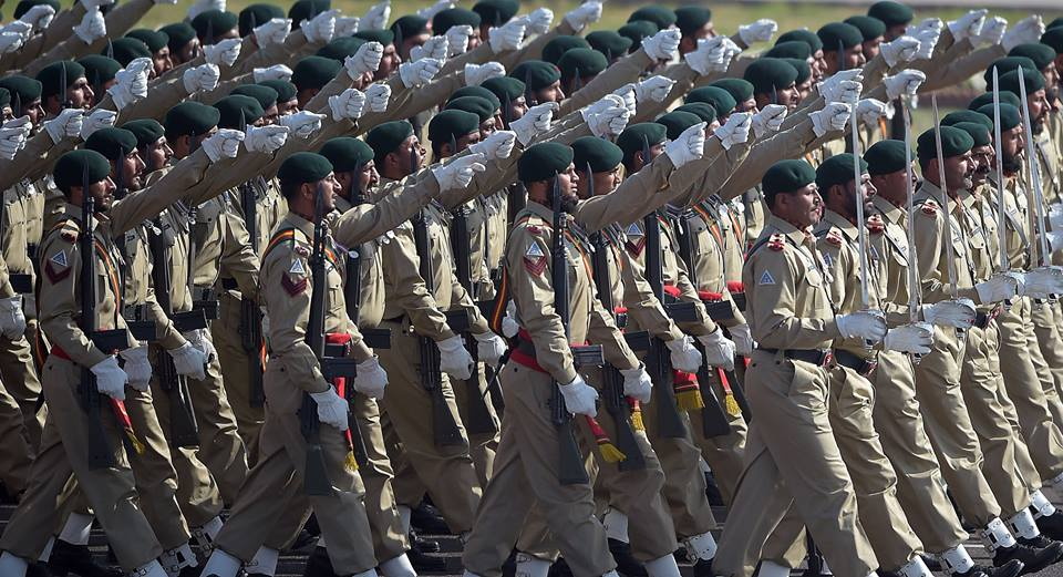 8 - Pakistani Army Soldiers March Past During Pakistan Day Military Parade
