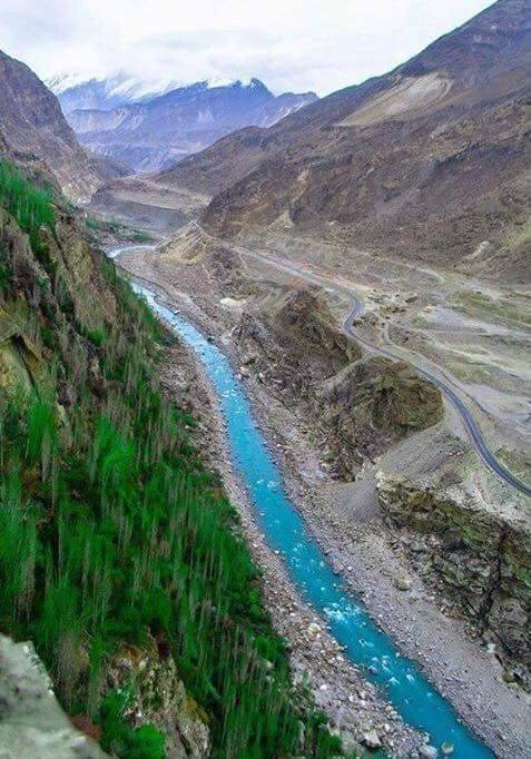 Hunza River and Karakoram Highway