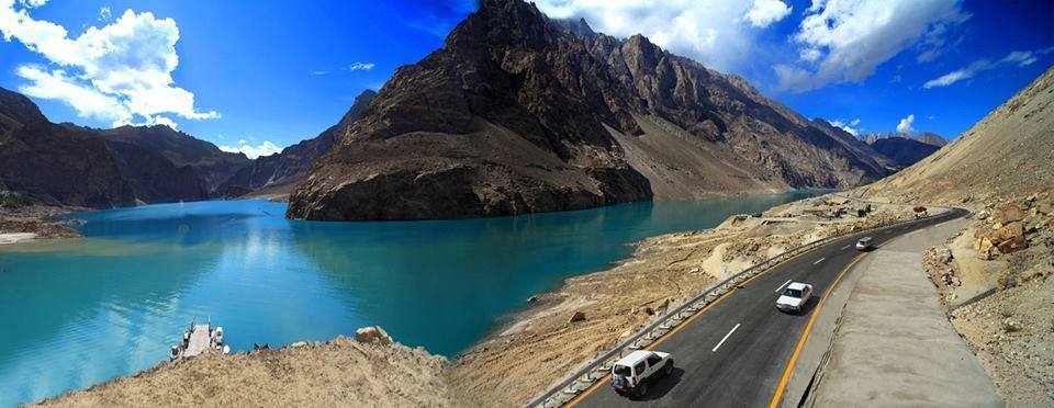 Karakoram Highway Along Side Atabad Lake