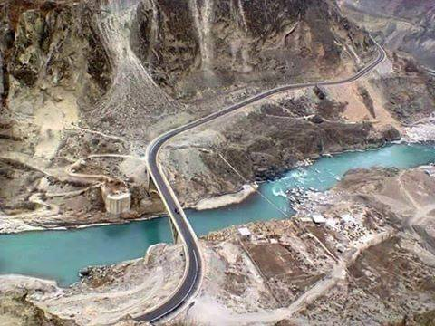 The bridge that connects hunza with nagar valley