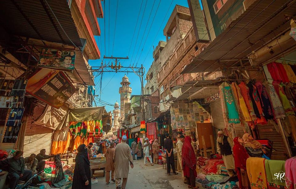 An Old Bazar in Lahore