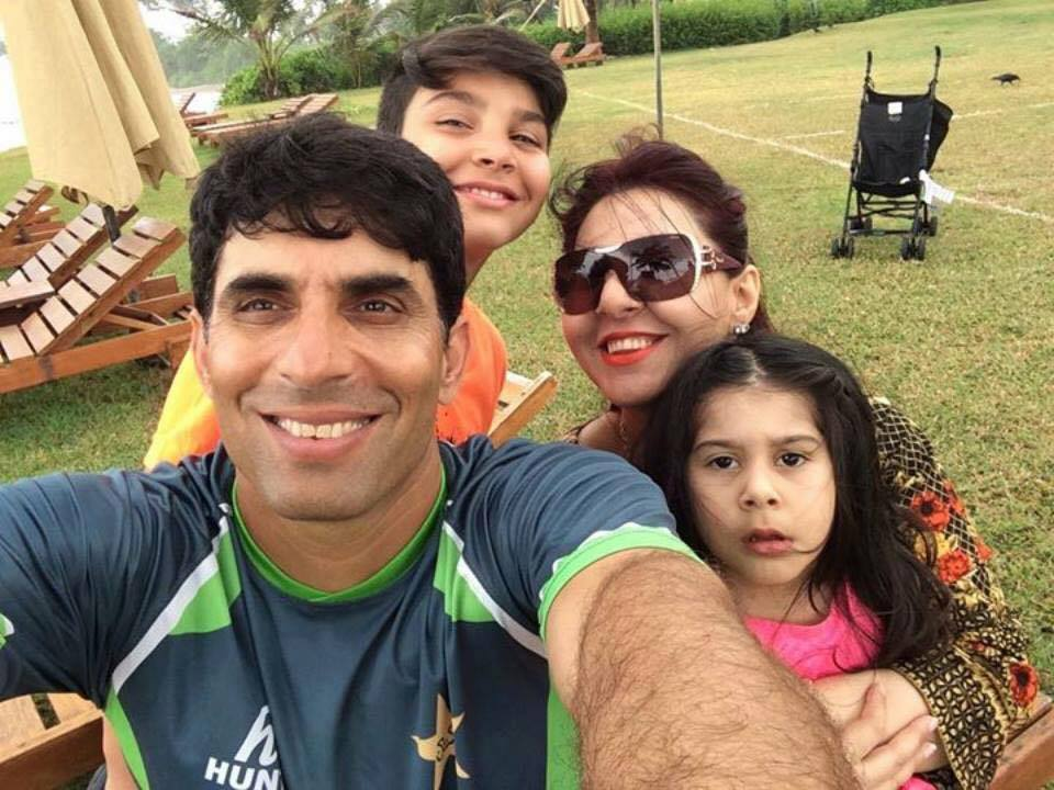 Misbah ul Haq with family