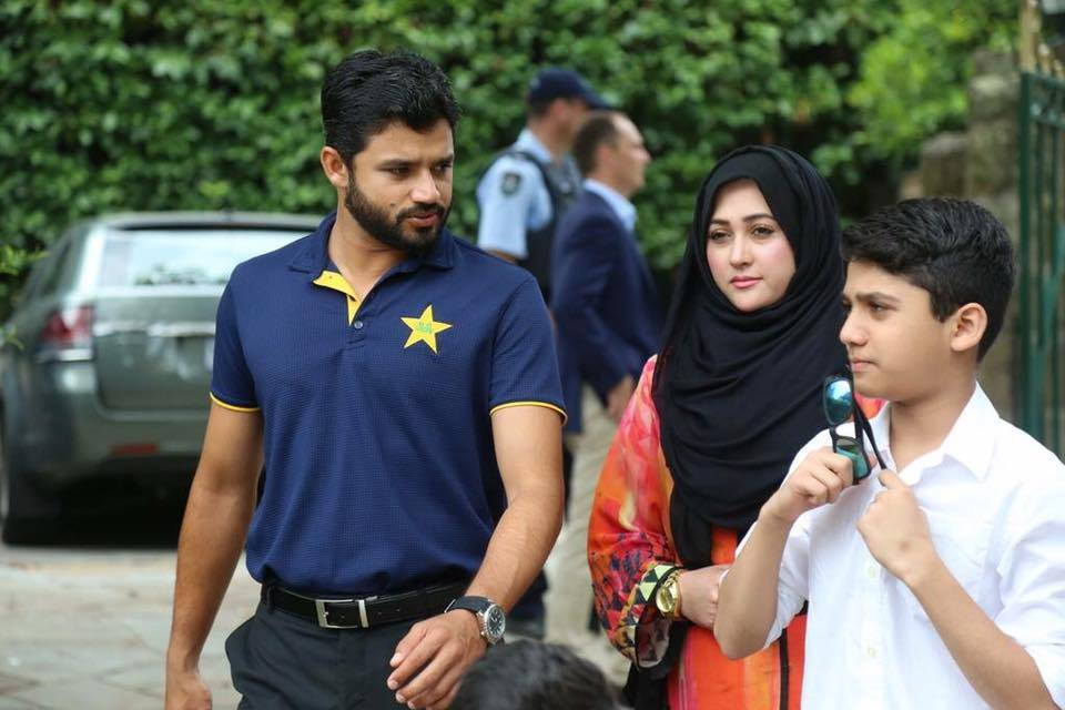 Azhar Ali with family