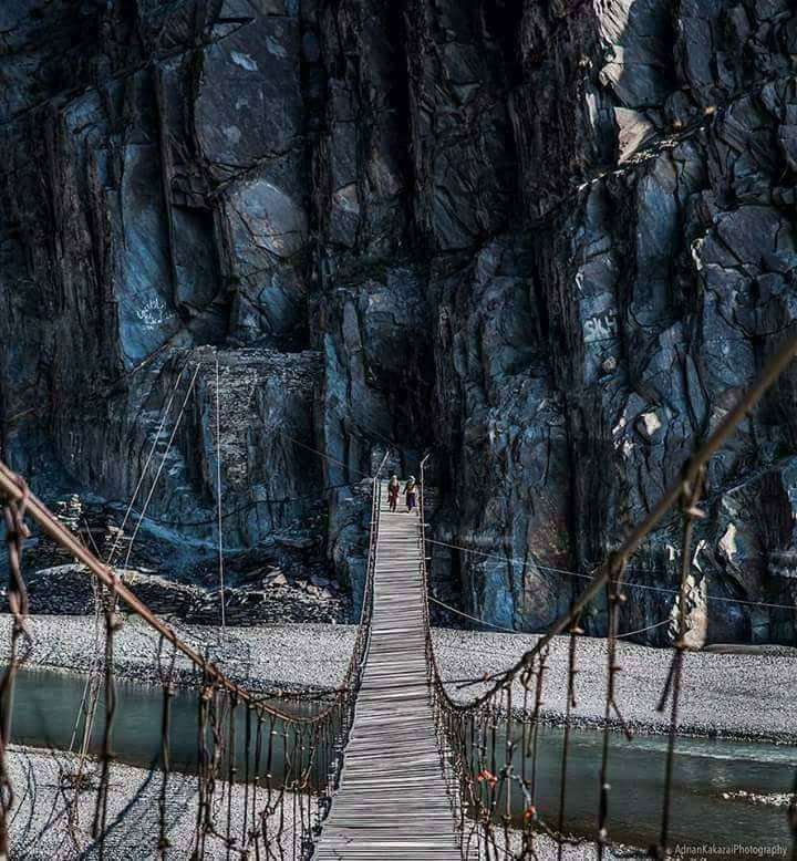 18 - Hussaini Suspension Bridge over Hunza River