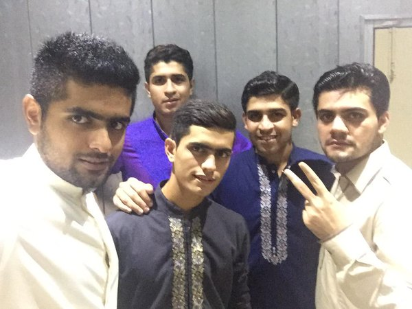 Babar Azam with his cousins