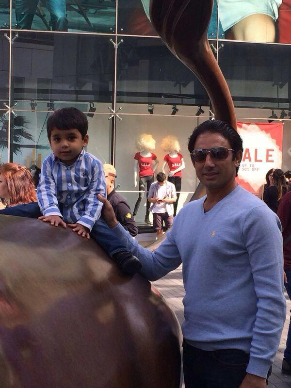 Saeed Ajmal with his family