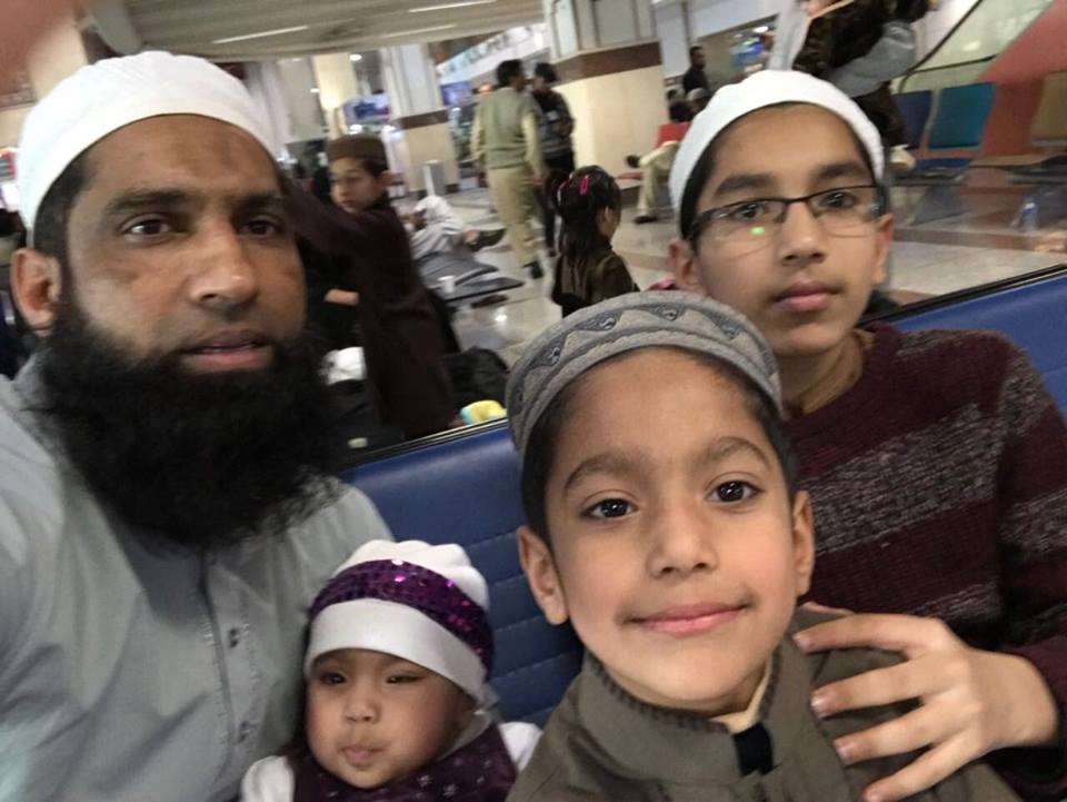 Mohammad Yusuf with family