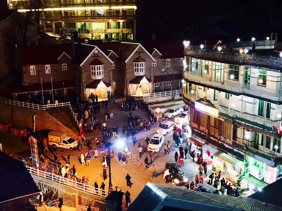 26 - Night view of the GPO chowk in Murree