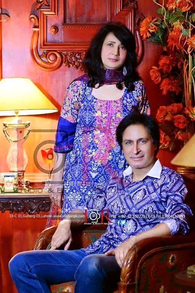 Ramiz Raja with his wife