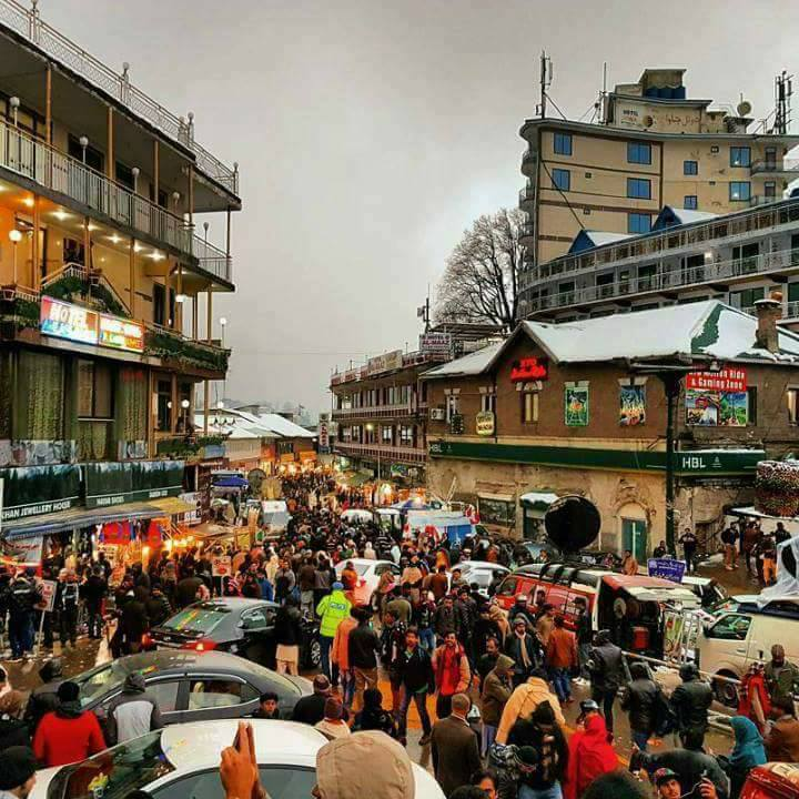 30 - GPO Chowk in Murree is often crowded