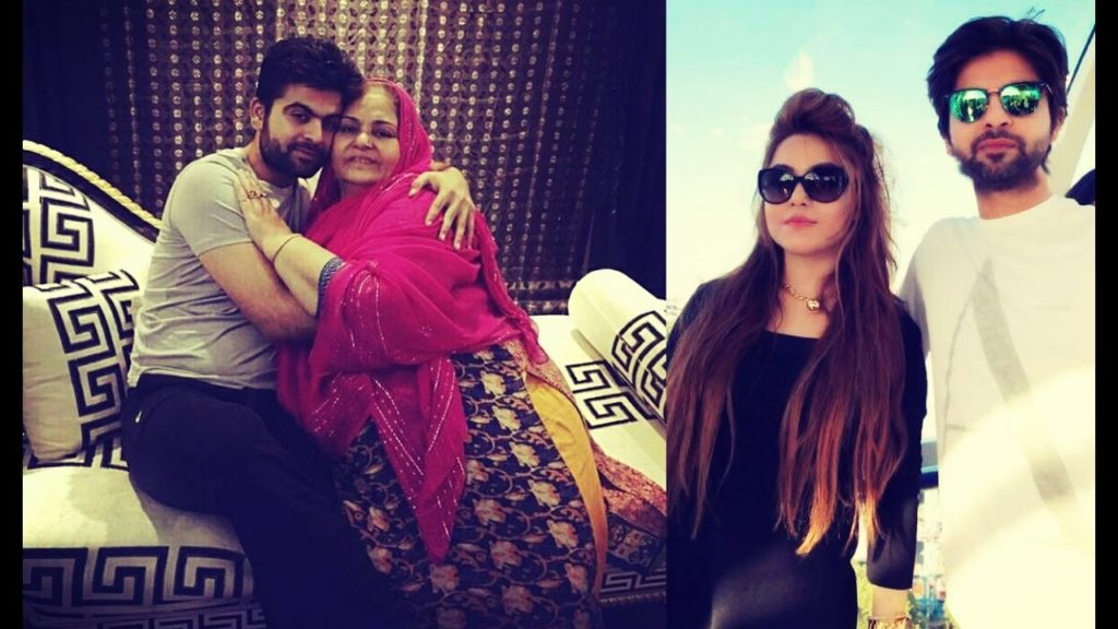 Ahmed Shehzad with his mother and wife