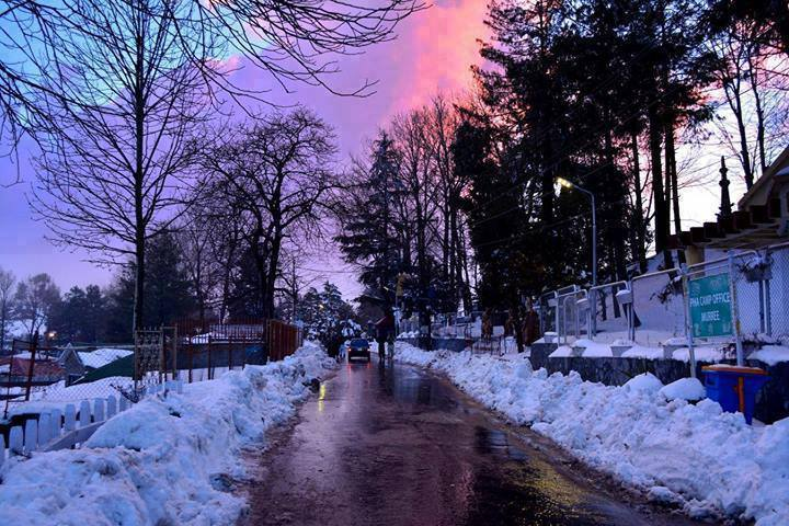32 - This is the view of Streets of Murree during extreme winter season