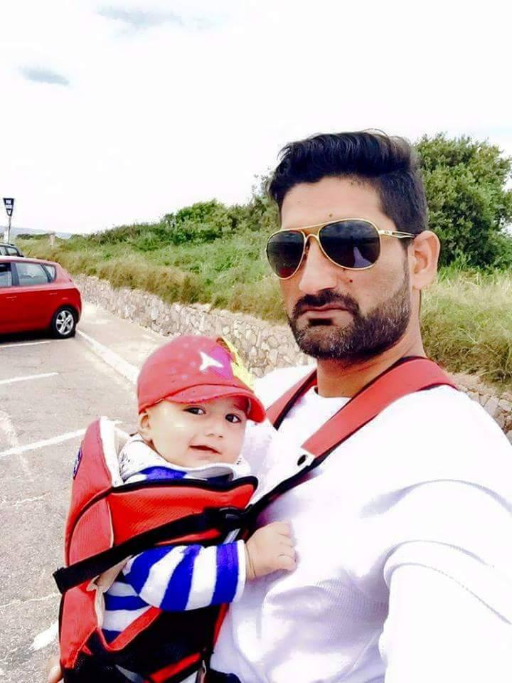 Sohail Tanvir with his son