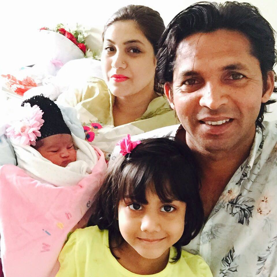 Mohammad Asif with family