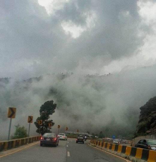 9 - Murree Expressway is often covered by clouds