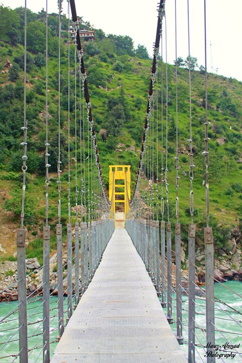 A pedestrian bridge in Bahrain, Swat