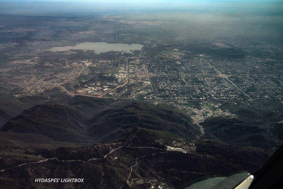 Aerial View of Islamabad and the Margalla Hills