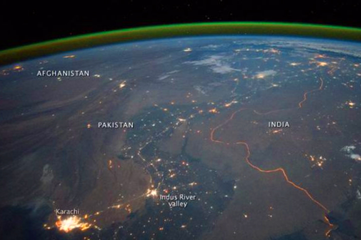 1 - Pakistan India Border - As Seen From Space