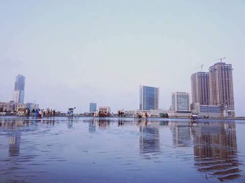 1 - The skyline of Karachi as seen from the sea
