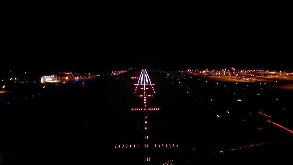 14 - Multan Airport Runway at Night