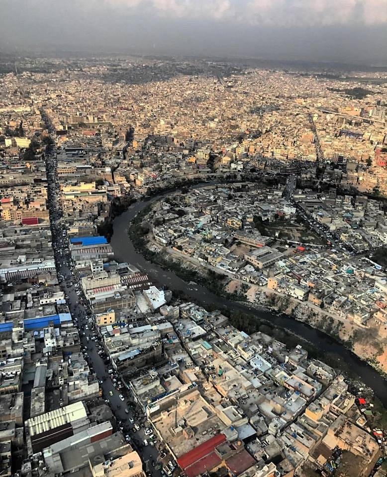 25 - Nalla Lai Twisting and Turning Through Densely Populated City of Rawalpindi - Photo Credits - The Dragon Flyer