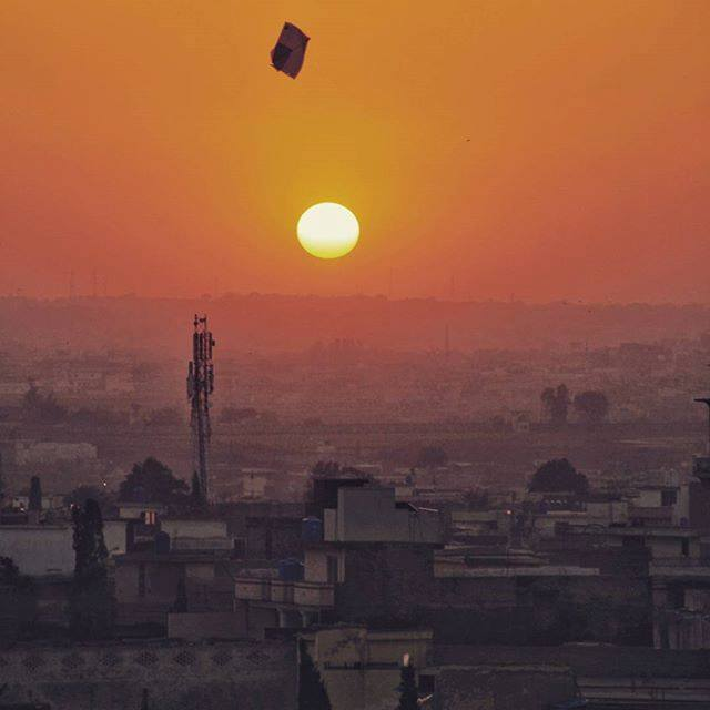 29 - Sunset at Chaklala Road - Rawalpindi