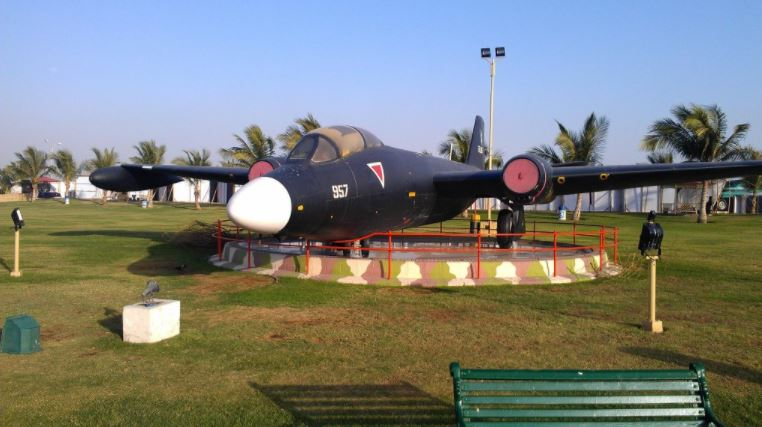3 - A model of spitfire war hawk...in...Pakistan Air Force (PAF) Museum Karachi.
