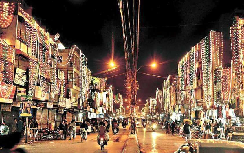 5 - Raja Bazar Rawalpindi Decorated on the ocassion of Rabi-ul-Awal