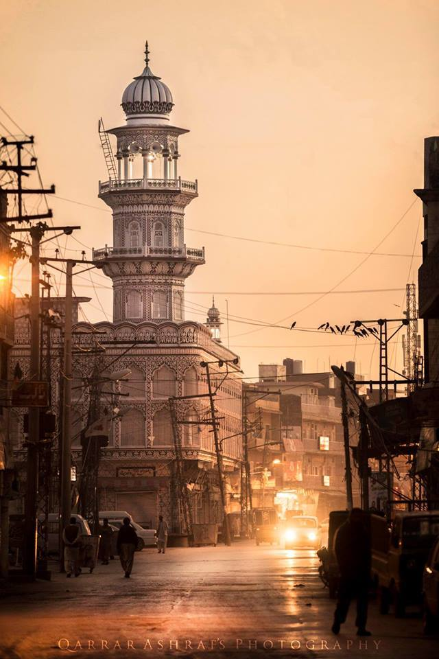 7 - Evening View of Jamia Masjid - Raja Bazar - Rawalpindi