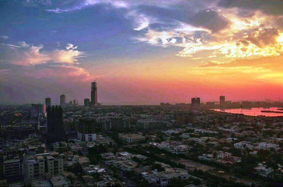 7 - Sunset in Karachi