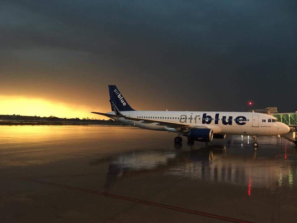 8 - An AirBlue plane parked at Multan Airport - Photo Credits - Muhammad Umer Khan