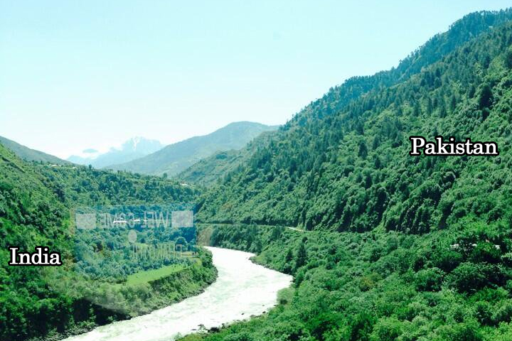 8 - River in Chakothi Area of Kashmir Seperating Pakistan and India