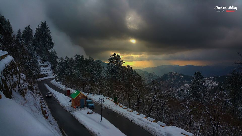 29 - Beautiful evening view on the way to NathiaGali