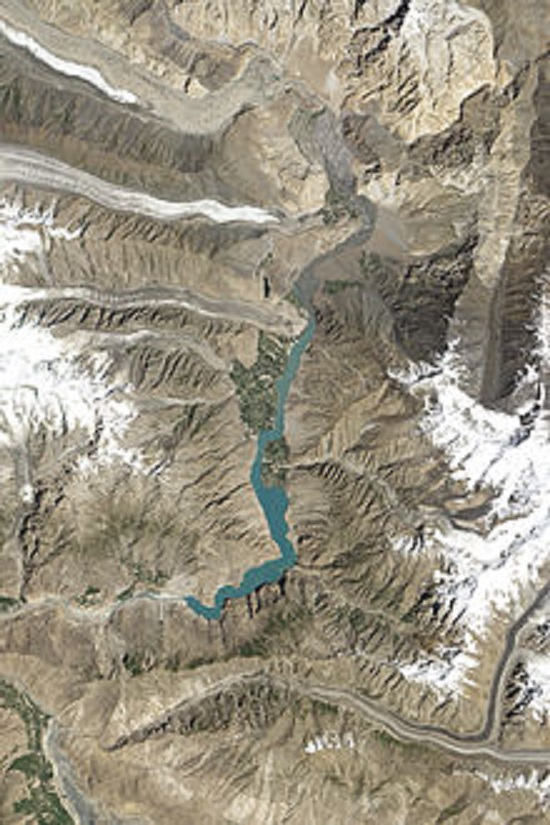 Attabad Lake Aerial View 1