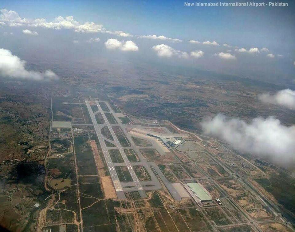 New Islamabad International Airport Aerial View