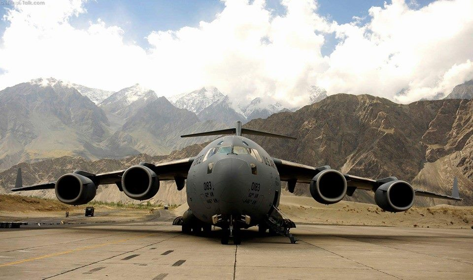 11 - A C-17 Globemaster III at the Skardu Airport