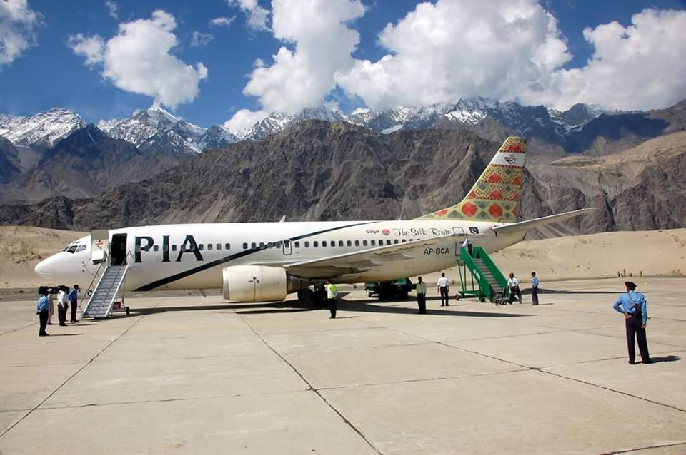 6 - PIA Plane at Skardu Airport