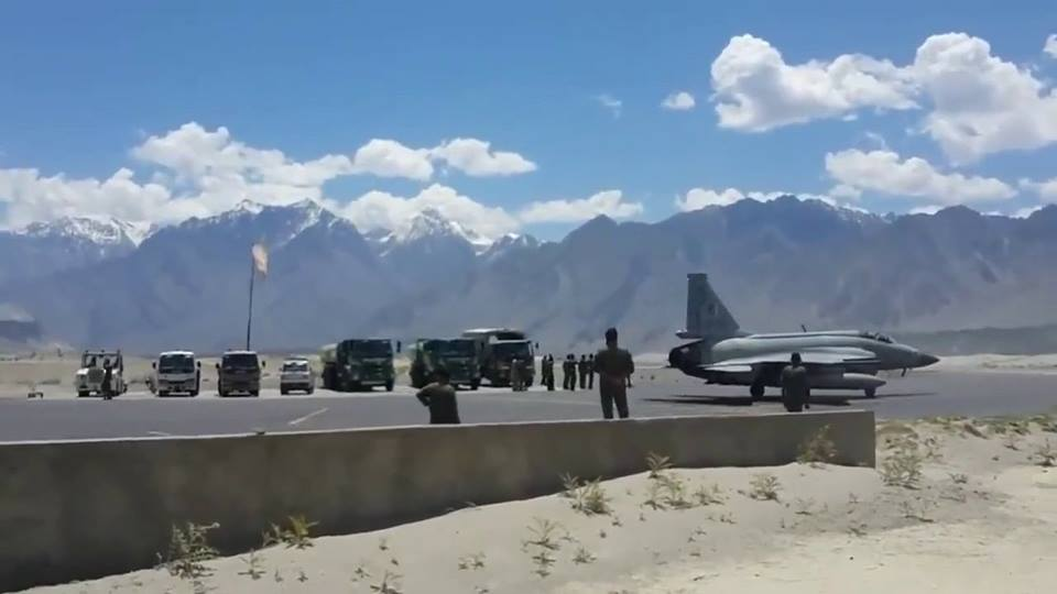 8 - JF 17 Thunder at the Skardu Airport