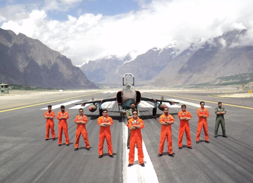 9 - Pakistan Airforce Personel at the Skardu Airport