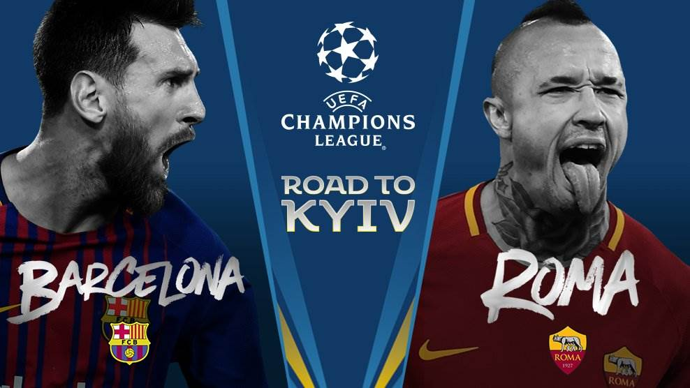 Image result for Barca vs Roma champions league